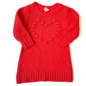 Old Navy Baby Girl Heart Knit Sweater Dress